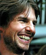 Tom Cruise wearing braces